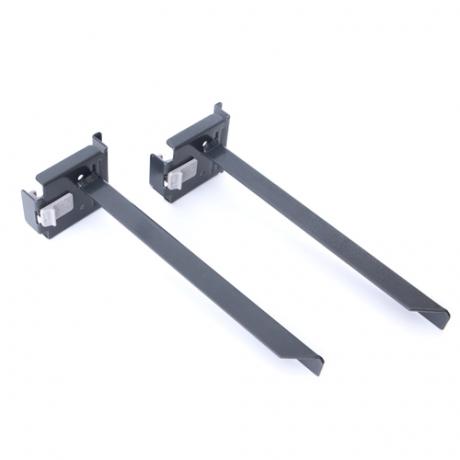Adjustable Shelf Brackets - Graphite Pearl - Locking (Pair)